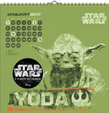 Star Wars Saga - 2017 Spiral Bound Calendar Calendarios