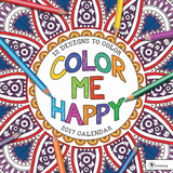 Color Me Happy - 2017 Calendar Kalendarze