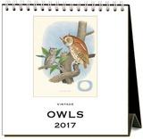 Owls - 2017 Easel Calendar Calendars
