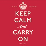 Keep Calm and Carry On - 2017 Calendar Calendarios