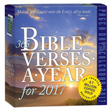 365 Bible Verses-A-Year Color Page-A-Day - 2017 Boxed Calendar Calendars