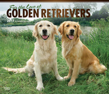 For the Love of Golden Retrievers Deluxe - 2017 Calendar Kalendarze
