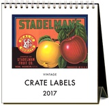 Crate Labels - 2017 Easel Calendar Calendars