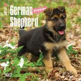 German Shepherd Puppies - 2017 Mini Calendar Kalendarze