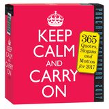 Keep Calm And Carry On Page-A-Day - 2017 Boxed Calendar Kalendáře
