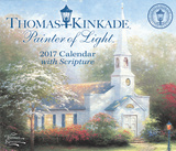 Thomas Kinkade Painter of Light with Scripture - 2017 Boxed Calendar Kalendarze