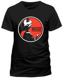 Muse- Drones Red Circle Logo (Slim Fit) T-shirts