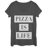 Womans: Pizza Is Life Bar Scoop Neck T-Shirts