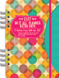 Retro Days 17-Month - 2017 Weekly Planner w/Stickers Calendars