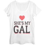 Womens: She's My Gal Scoop Neck Vêtements