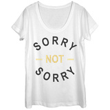 Womens: Not So Sorry Scoop Neck T-Shirts