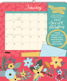 Secret Garden - 2017 Calendar with Pocket Calendriers