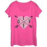 Womans: Love In All Directions Scoop Neck T-shirts