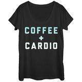 Womens: Coffee Cardio Scoop Neck Vêtements