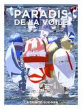 La Trinité sur Mer, Paradis de la voile Posters av Philip Plisson