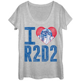 Womens: Star Wars- R2-D2 Love Scoop Neck Shirts