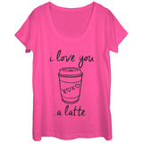 Womans: Love You Latte Scoop Neck Shirts