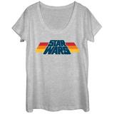 Womans: Star Wars- Color Block Slant Logo Scoop Neck T-shirt