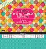 Retro Days - 2017 Magnetic 17 Month Calendar Kalendere