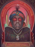 Biggie Says Wood Print by Aaron Jasinski