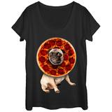Womans: Pugeroni Scoop Neck T-Shirts