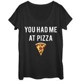 Womans: Had Me At Pizza Scoop Neck Koszulki