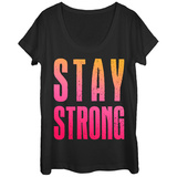 Womens: Stay Strong Scoop Neck T-shirts