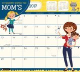 Mom's Magnetic - 2017 Monthly Calendar Pad Kalendere