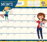 ママ用カレンダー(2017年カレンダー)(磁石シート式) カレンダー