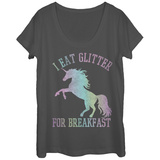 Womans: Glitter For Breakfast Scoop Neck Vêtements