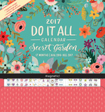 Secret Garden - 2017 Magnetic 17 Month Calendar Calendriers