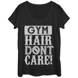 Womans: Gym Hair Don't Care Scoop Neck Vêtements