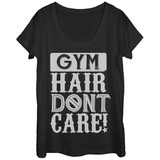 Womans: Gym Hair Don't Care Scoop Neck T-shirts