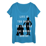 Womans: Star Wars- Don'T Look For The Droids Scoop Neck T-Shirts