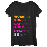 Womans: Mottos To Live By Scoop Neck T-skjorter