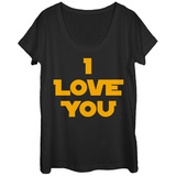 Womans: Star Wars- I Love You Scoop Neck Shirts