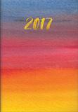 Gold Foil Watercolor Pocket Planner - 2017 Monthly Pocket Planner Calendars