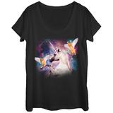 Womans: Uni Kitten Hero Squad Scoop Neck Koszulka