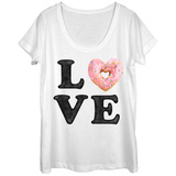 Womans: Donut Love With Sprinkles Scoop Neck Shirts