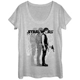 Womens: Star Wars- Tri-Solo Scoop Neck T-shirts