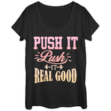 Womans: Pushin It Scoop Neck Bluser