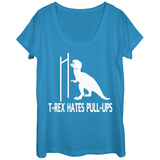 Womans: T-Rex Pullups Scoop Neck T-Shirts