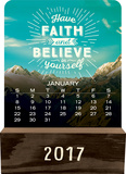 Words to Live By - 2017 Wood Block Desk Calendar - Takvimler