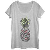 Womans: Hearty Pineapple Scoop Neck Koszulki