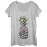 Womans: Hearty Pineapple Scoop Neck T-Shirts