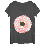 Womans: With Sprinkles! Scoop Neck Bluser