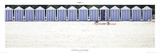 Cabines de plages à Carantec Plakat av Philip Plisson