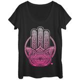 Womens: Lotus Palm Scoop Neck Vêtement