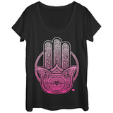 Womans: Lotus Palm Scoop Neck - Tişört
