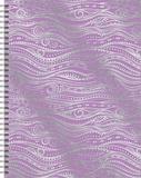 Silver Foil Waves - 2017 Spiral Planner Kalendarze